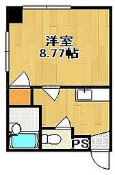 ウイングV[4階]の間取り