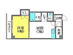 北海道札幌市豊平区豊平一条1丁目の賃貸マンションの間取り
