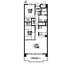 グランボナール(2LDK)[1階]の間取り