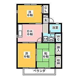 パレーシャル森島[2階]の間取り