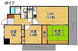 サニーコットン住之江[2階]の間取り