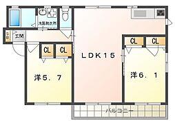 クレメンテカミダ[2階]の間取り