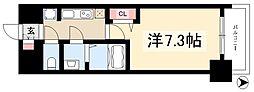 プレサンスジェネ新栄町駅前葵 9階1Kの間取り
