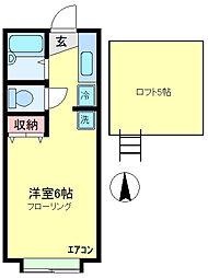 スカイパレスM5[2階]の間取り