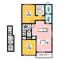 メゾン・ソレイユI II[2階]の間取り