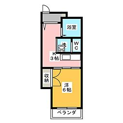 マンション植田[4階]の間取り