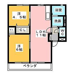 グランシャリオIIIIII[1階]の間取り