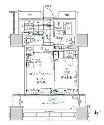 ローレルタワー ルネ浜松町 2階1LDKの間取り