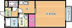 ベルエポック藤原[2階]の間取り