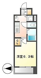 プレサンス桜通グレイス[5階]の間取り