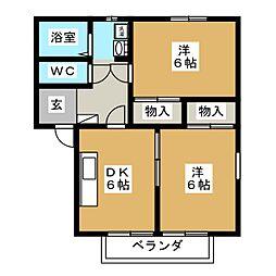 ピュアハーツ239[2階]の間取り