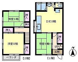 [テラスハウス] 神奈川県横浜市金沢区大道2丁目 の賃貸【/】の間取り