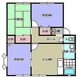 ウィンディア赤坂A棟[2階]の間取り
