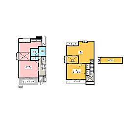 [テラスハウス] 愛知県名古屋市千種区山添町1丁目 の賃貸【/】の間取り