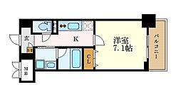 名古屋市営名城線 志賀本通駅 徒歩8分の賃貸マンション 5階1Kの間取り
