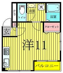 矢羽根ビル[5階]の間取り