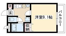 愛知県日進市岩崎台芦廻間の賃貸マンションの間取り
