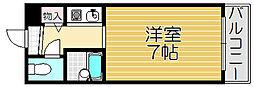 大阪府大阪市西淀川区御幣島2丁目の賃貸マンションの間取り