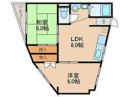 西明石富士ハイツ[2階]の間取り