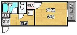 クレッセント坂本[1階]の間取り