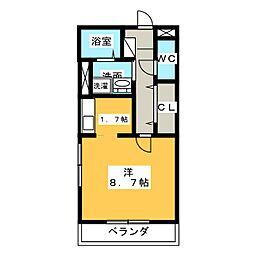 レジェンド横田[5階]の間取り