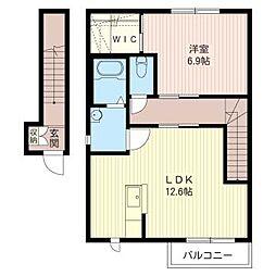 La Dolce III[2階]の間取り