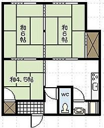 小八重アパート[101号室]の間取り