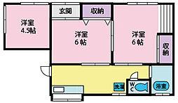 [一戸建] 山梨県甲斐市富竹新田 の賃貸【/】の間取り