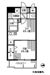 神奈川県横浜市都筑区茅ケ崎中央の賃貸マンションの間取り