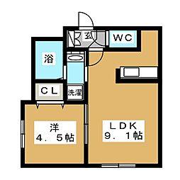Flats LIDO(フラッツリド)[4階]の間取り