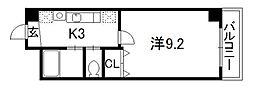 パルティール四条[2階]の間取り