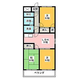 アムールKATO[1階]の間取り