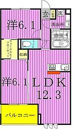 千葉県流山市大字木の賃貸アパートの間取り