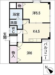 シャンプル[2階]の間取り