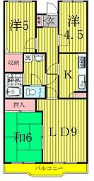 第十パールメゾン蒲田[203号室]の間取り