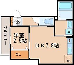 兵庫県神戸市長田区御船通3丁目の賃貸アパートの間取り