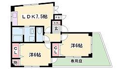 ベルハウジングMK3[1階]の間取り