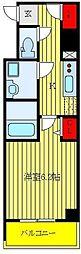 CREVISTA板橋ときわ台 3階1Kの間取り