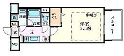 Osaka Metro御堂筋線 心斎橋駅 徒歩4分の賃貸マンション 11階1Kの間取り