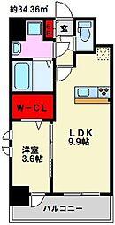 仮)弥永5丁目マンション[110号室]の間取り