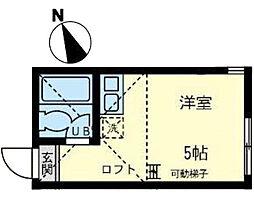 ユナイト 渡田メルビックの杜[1階]の間取り