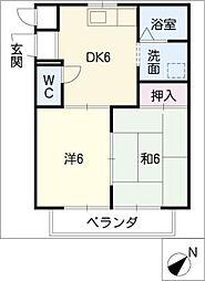 エポック鳴海[3階]の間取り