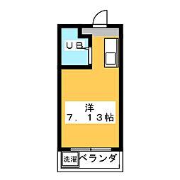 プチハイツ八幡[2階]の間取り