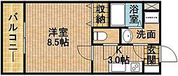 Bell-Ku[502号室]の間取り