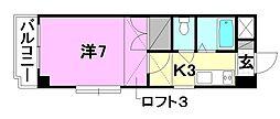 フレクション松山東石井[507 号室号室]の間取り