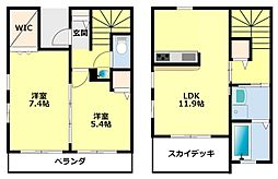 [タウンハウス] 愛知県豊田市寿町5丁目 の賃貸【/】の間取り