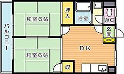 シャトレ上の原[3階]の間取り