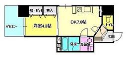 岡山県岡山市北区錦町の賃貸マンションの間取り