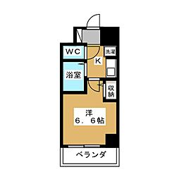 ラナップスクエア京都北野[6階]の間取り