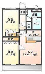 ファームタウン桜[2階]の間取り